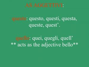 ضمایر اشاره در ایتالیایی