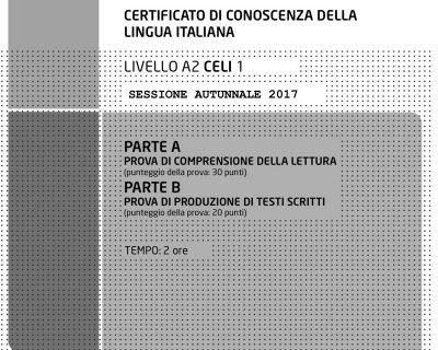 راهنمای پاسخ به آزمون CELI1 – A2 پاییز 2017