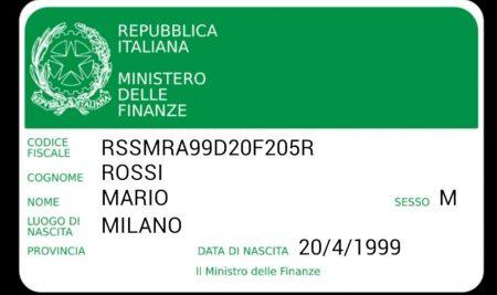 کد مالیاتی ایتالیا Codice Fiscale